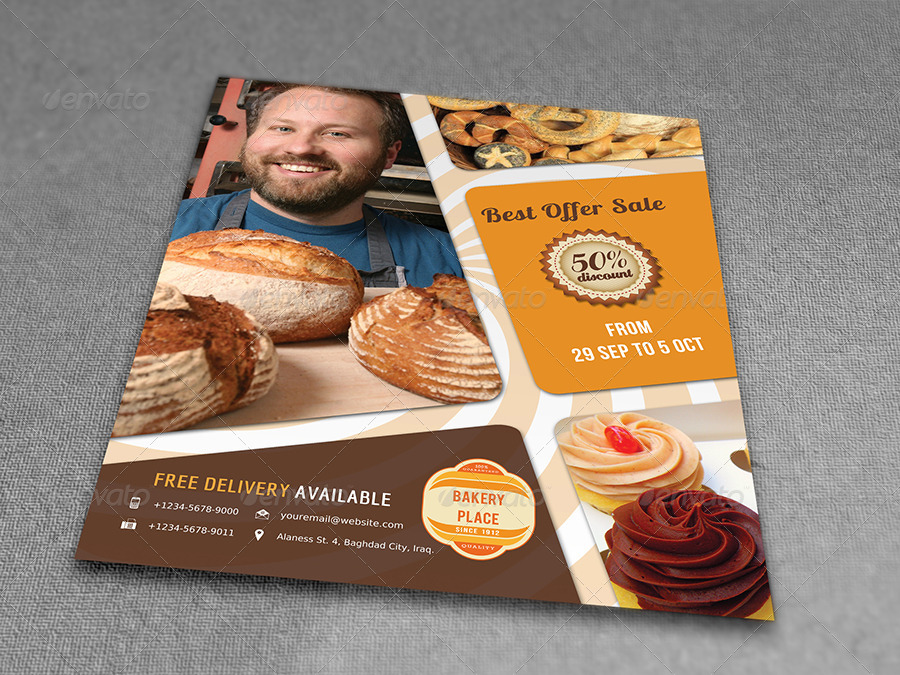 Bakery Flyer by OWPictures   GraphicRiver