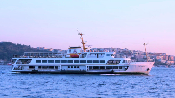 Ferry Travelling at Bosphorus