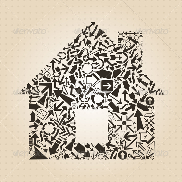 GraphicRiver House Made of Arrows 3690238
