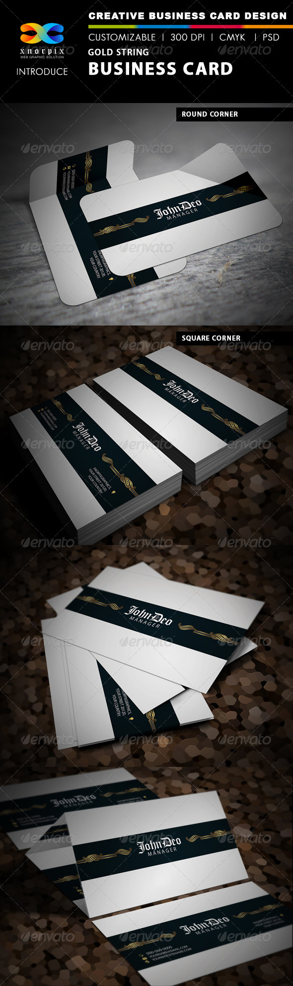 Gold String Business Card - Creative Business Cards