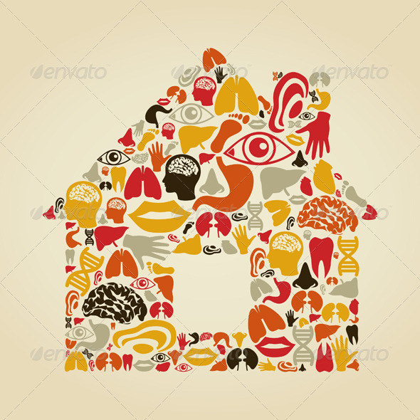 GraphicRiver House Made of Body Parts 3690280