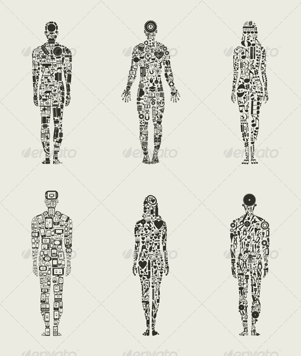 GraphicRiver Collection of People Made of Icons 3690309