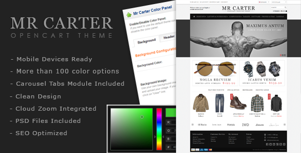 Mr Carter - OpenCart Premium Theme