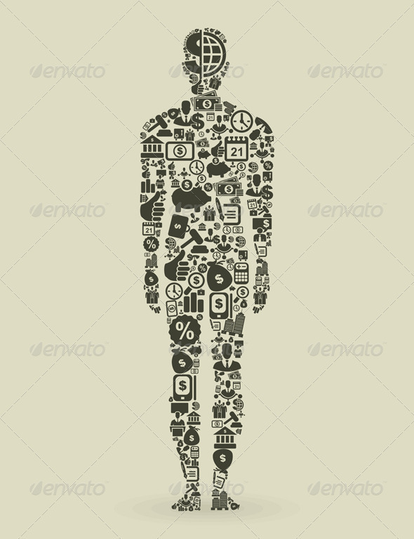GraphicRiver Person Made of Business Elements 3690566