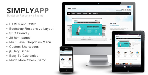 Simplyapp – Bootstrap Responsive HTML Template