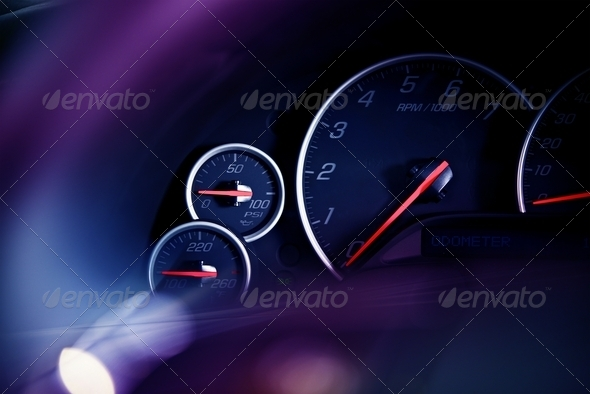 PhotoDune Car Dashboard Dials 3690616