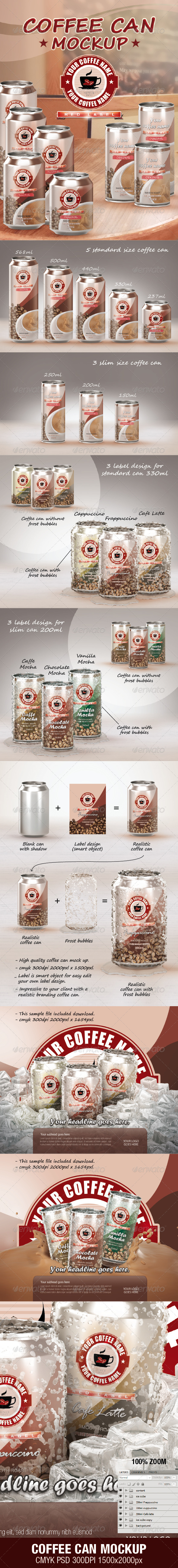 GraphicRiver COFFEE CAN MOCKUP 3664274