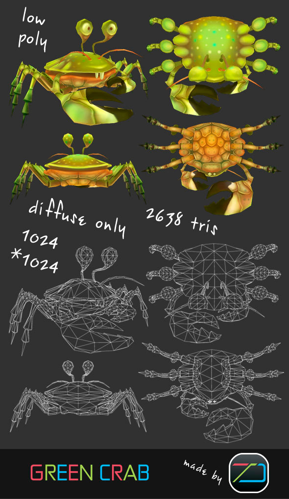 3DOcean Green Crab 3691033
