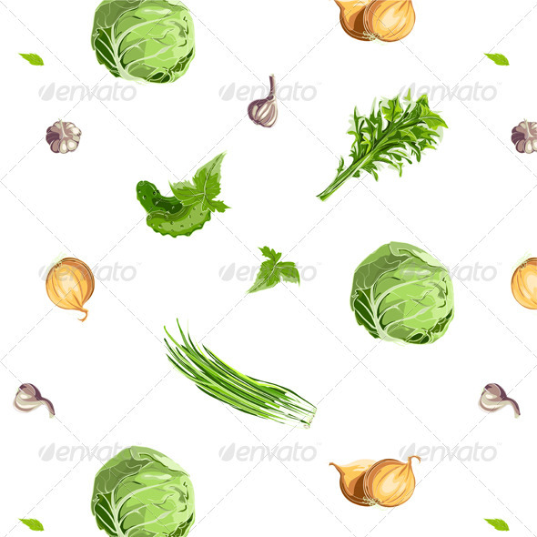 GraphicRiver Fresh Vegetables Seamless Pattern 3691052
