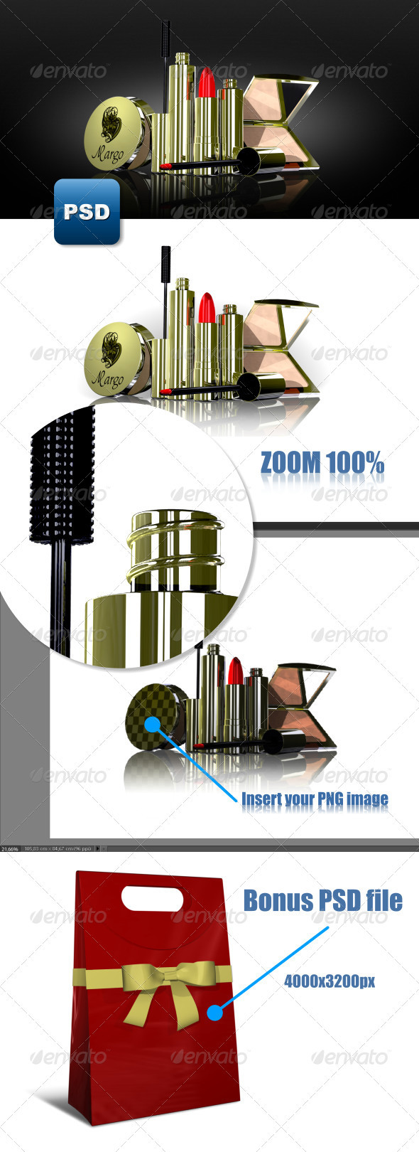 GraphicRiver Gift cosmetic set 3691057