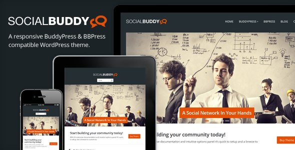 Social Buddy - WordPress & BuddyPress Theme