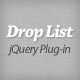 jQuery Plug-in: Drop List - CodeCanyon Item for Sale