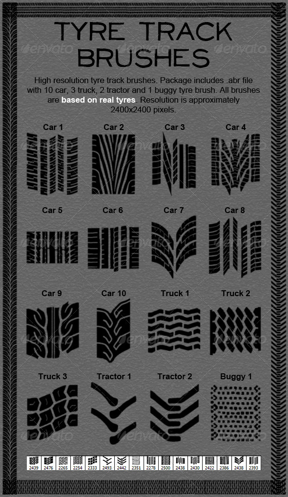 GraphicRiver Tire Track Brushes 397002