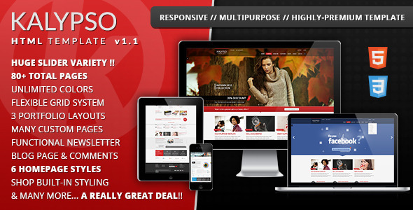 ThemeForest KALYPSO Responsive Multipurpose Template 3583938