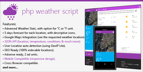 CodeCanyon PHP Weather Script 3631437