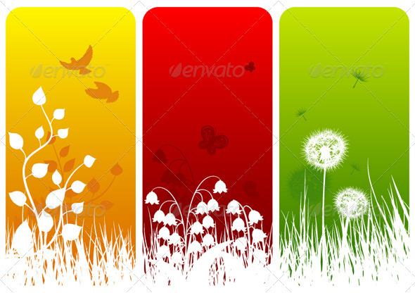 GraphicRiver Three Nature Designs 3691802