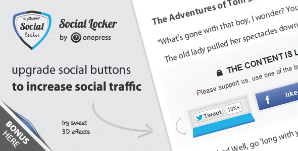 CodeCanyon Social Locker for jQuery 3408941