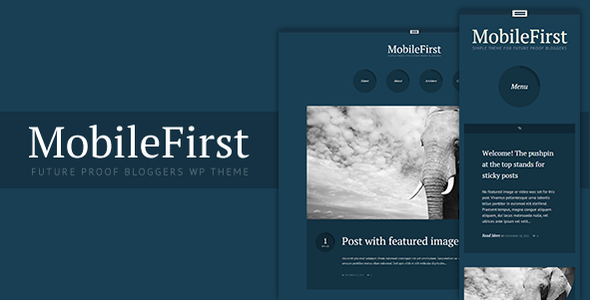 ThemeForest MobileFirst WP Theme for Future-Proof Bloggers 3646155