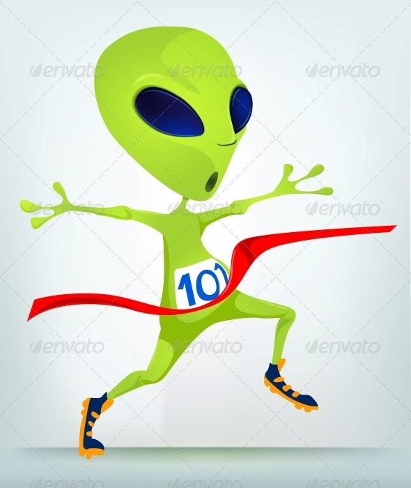 GraphicRiver Cartoon Character Alien Finish 3691887