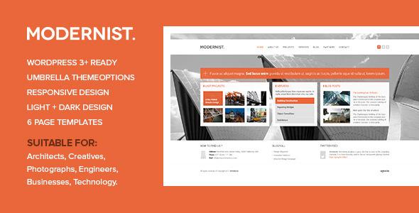 ThemeForest Modernist Architecture&Engineer Wordpress Theme 3582418