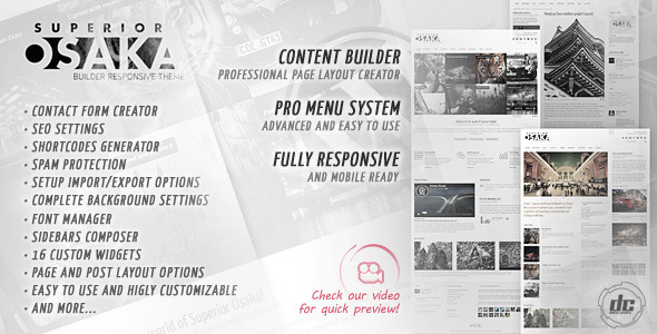 Superior Osaka - Builder Responsive WPTheme - Business Corporate