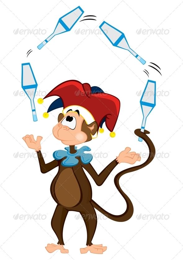 GraphicRiver Monkey Juggler 3692273