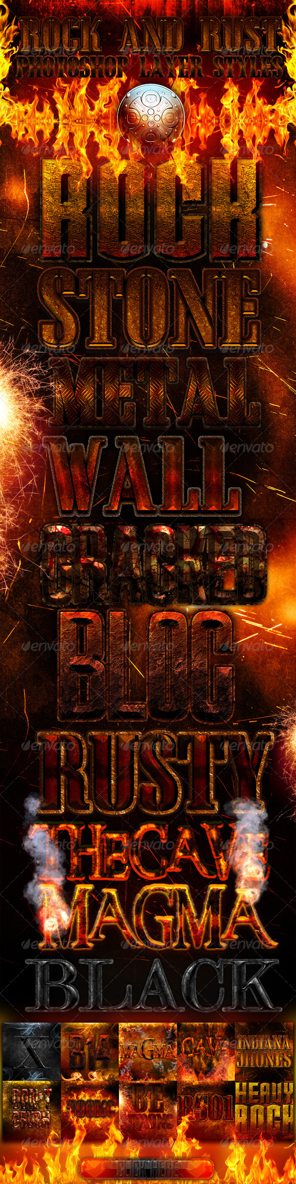 Rock and rust photoshop layer styles - Photoshop Add-ons