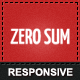 Zero Sum - Responsive WordPress Theme - ThemeForest Item for Sale