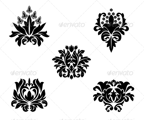 GraphicRiver Flower Patterns 3692952