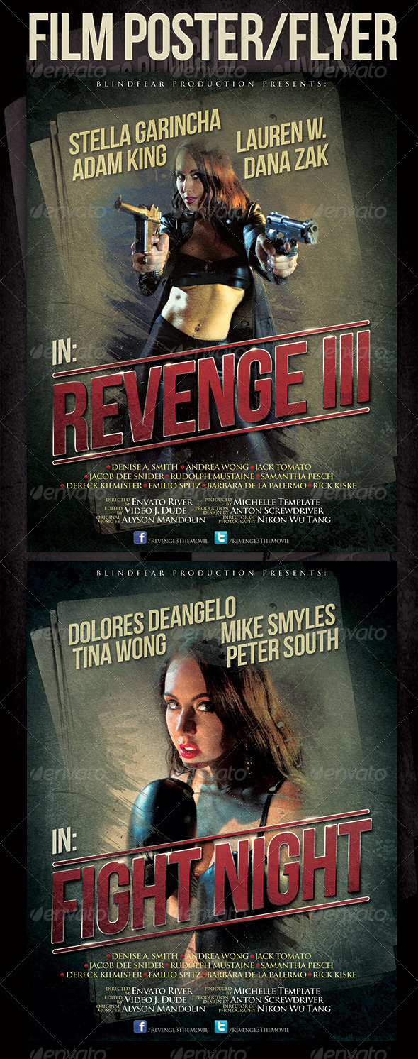 GraphicRiver Film Poster Template 3692960
