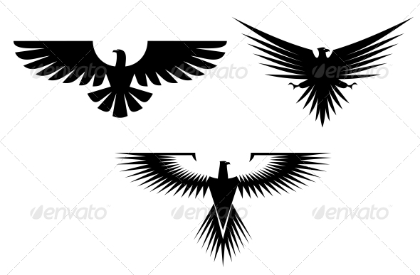 GraphicRiver Eagle Tattoos 3692973