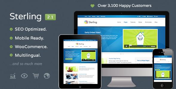 ThemeForest Sterling Responsive Wordpress Theme 2320578
