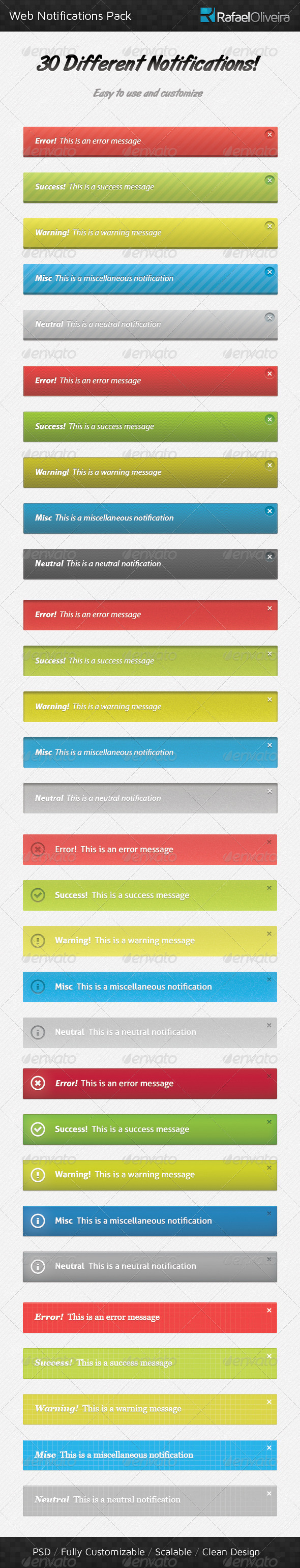 GraphicRiver Web Notifications Pack 372030