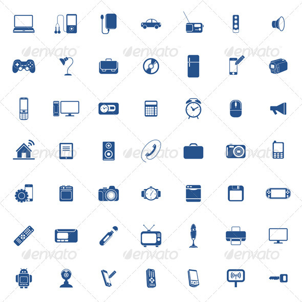 GraphicRiver Technology Icon Set 3693080