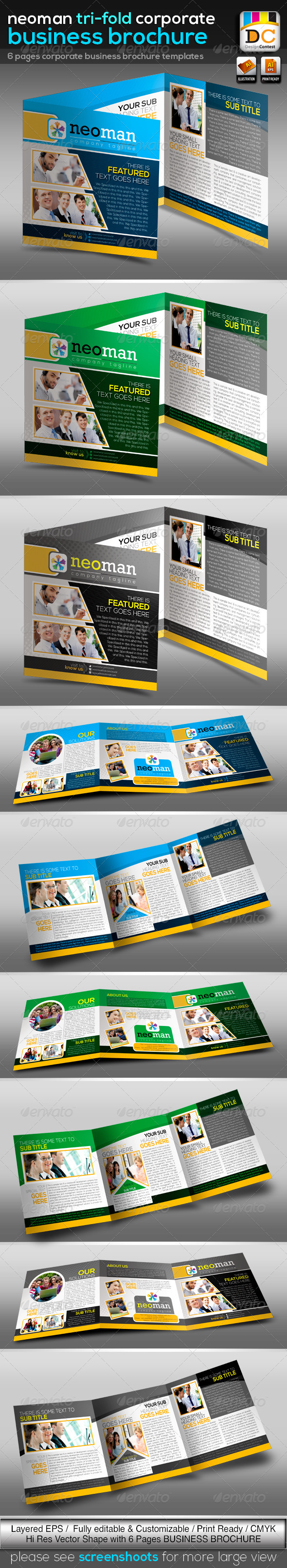 GraphicRiver NeoMan Tri-fold Corporate Business Brochure V-02 3693104