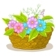 Download Vector Basket with Flowers Cosmos