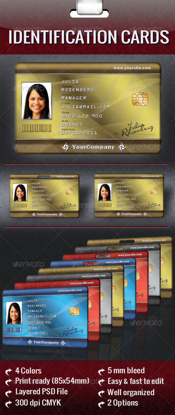 Identification Cards - Miscellaneous Print Templates