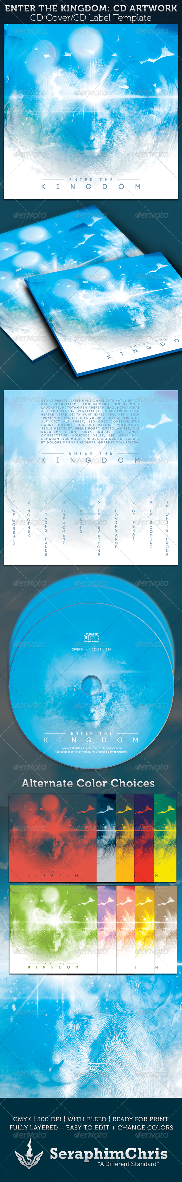 GraphicRiver Enter the Kingdom CD Cover Artwork Template 3693275