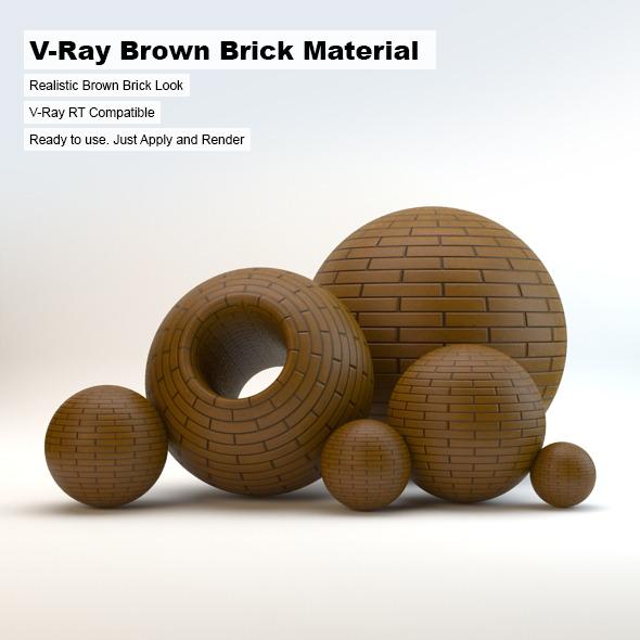 3DOcean V-Ray Brown Brick Material 3693276