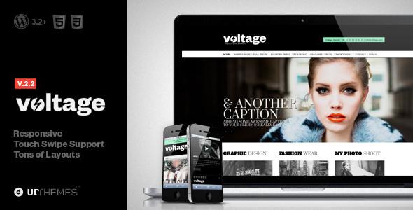 ThemeForest Voltage Creative Responsive WordPress Theme 2532838