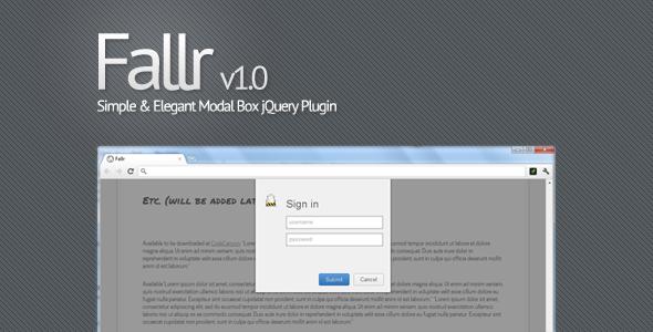 CodeCanyon - Fallr - Simple & Elegant Modal Box jQuery Plugin