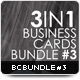 3in1 Business Cards Bundle #3 - GraphicRiver Item for Sale
