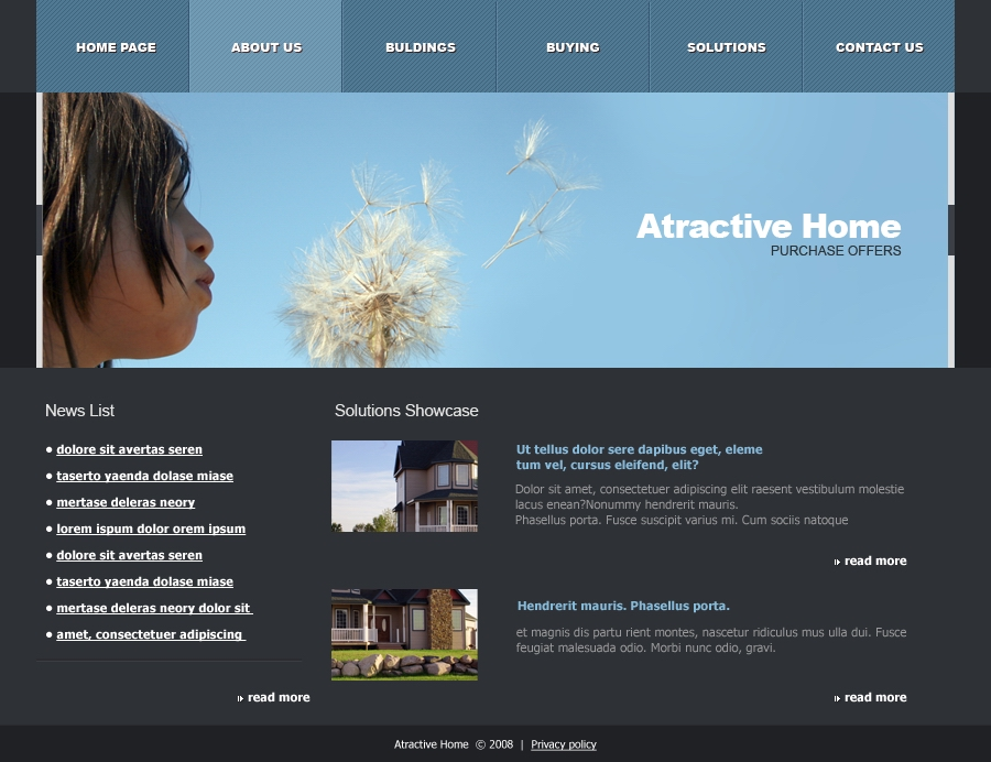 Attractive Home - about us page