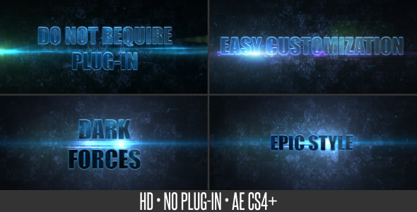 After Effects Project - VideoHive Dark Forces 3208246