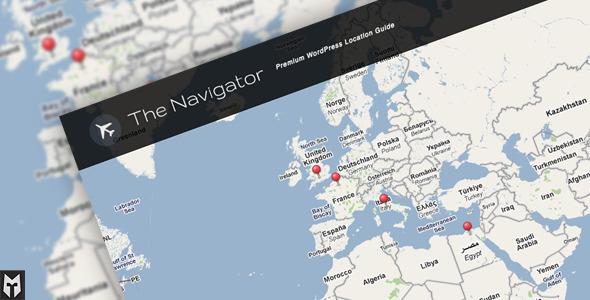 Temas App para WordPress. Creación de mapas: the navigator