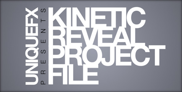 Kinetic Reveal by uniquefx | VideoHive