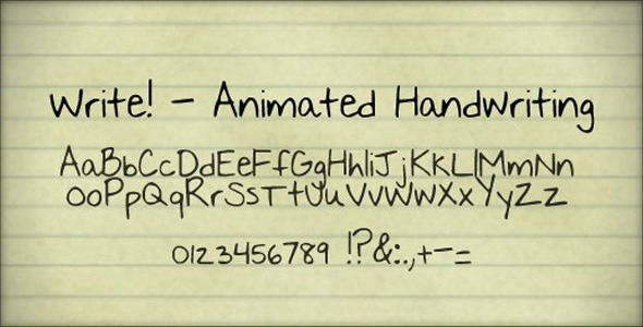 After Effects Project - VideoHive Write Animated handwriting 127215