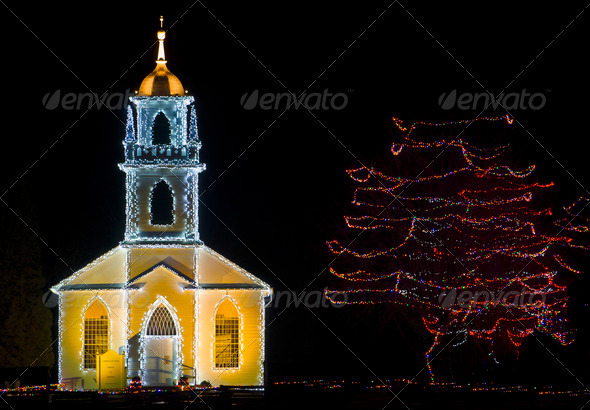 Christmas Church - Stock Photo - Images
