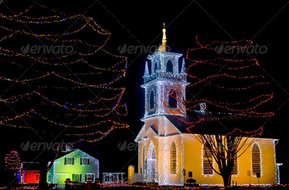 Holiday Church - Stock Photo - Images