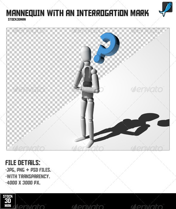 Graphic River Mannequin With An Interrogation Mark Graphics -  3D Renders  Characters 397469